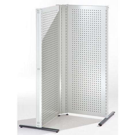 Cloisons modulaires industrielles - combinaison d'angle, côté gauche, 90° - gris clair