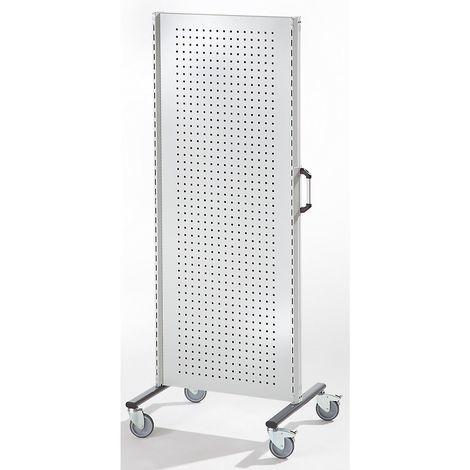 Cloisons modulaires industrielles - élément de base mobile, largeur 800 mm - gris clair