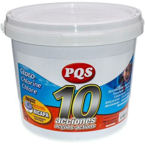 """main image of """"Cloro 10 acciones tabletas bicapa 250 g., 5 Kgs. PQS"""""""
