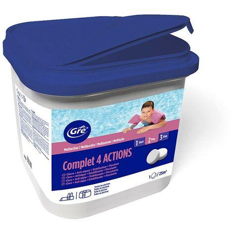 Cloro 4 acciones pastillas 250 gr GRE envase 5 kg 76006