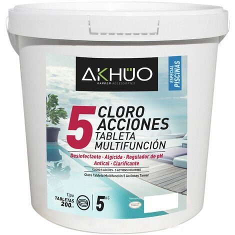 CLORO 5 ACCIONES TABLETA 200G 5KG AKHUO