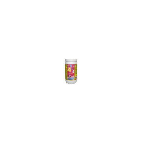Cloro en pastillas PQS 4 Acciones: Desinfección, Estabilizador de Cloro, Algicida y Floculante. Tabletas 100 gr. Bote 1 Kg.