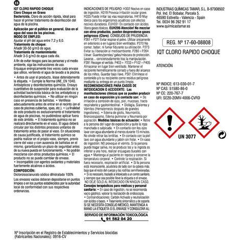 Cloro granulado de disolución lenta de 5 kg