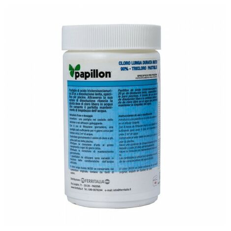 Cloro lento mantenimiento 90% pastillas 20 gramos (1 kg)