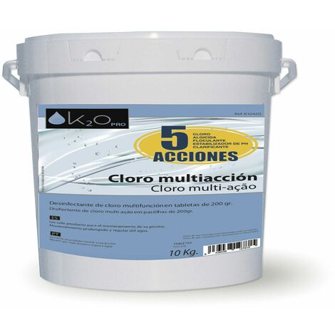 Cloro Multifuncion K2O 5 Acciones 10 Kg Tabletas 200 gr