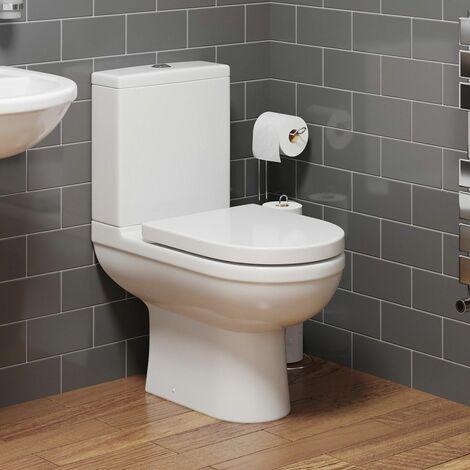 "main image of ""Close Coupled Bathroom Toilet Space Saving 360mm Pan Soft Close Seat Dual Flush"""