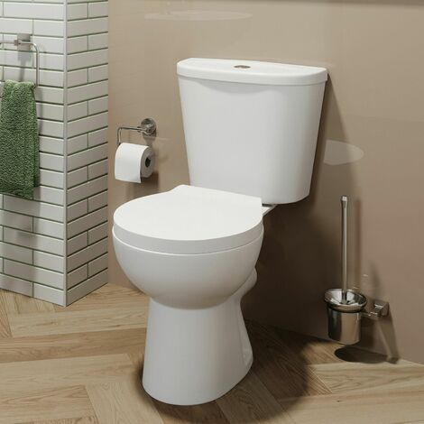 Close Coupled Toilet Ceramic Toilet Bathroom & Soft Close Seat