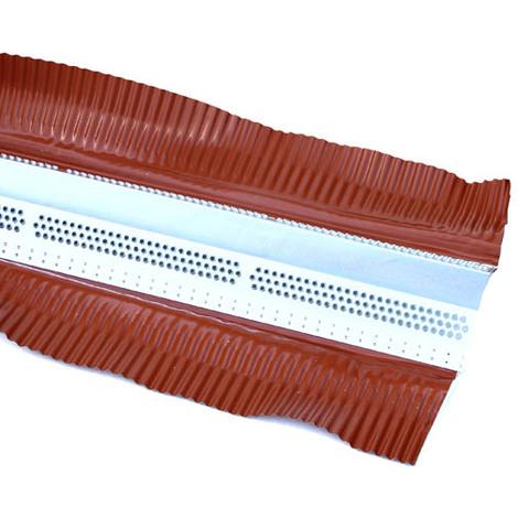 Closoir aéré zinc-plomb rouge 120 en 2m