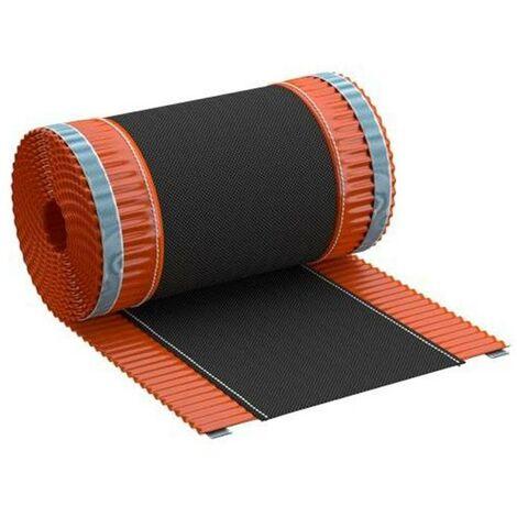 Closoir de faîtage souple polyester / aluminium - 390 mm x 5Ml