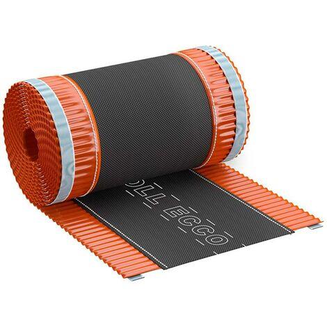Closoir de faîtage souple ventilé en aluminium ROLL ECCO 240mmx5Ml