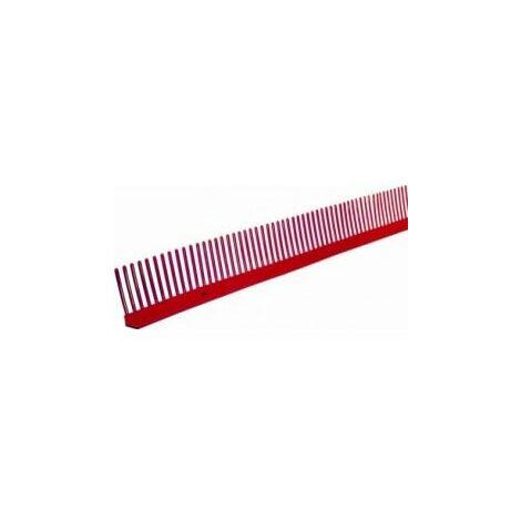 Closoir peigne L 1m protection couverture bwk-1 m x 85 mm-Rouge-brique BWK
