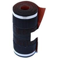 Closoir Souple Ventilé Aluminium Rouge Largeur 400 En 5m
