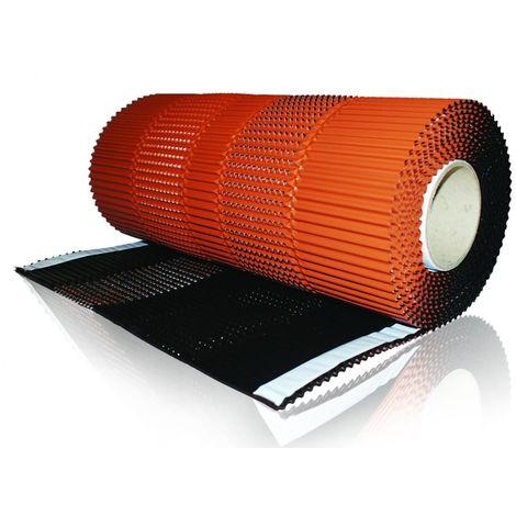 Closoir ventilé slim en aluminium avec une finition laquée, résistant aux UV et colle Butyl 5,00 m x 0,15 m noir