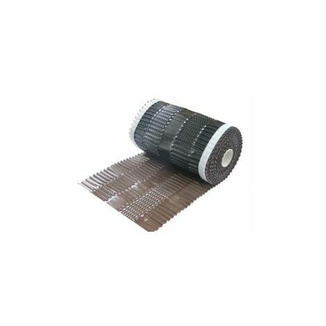 Closoirs de faîtage vario protect alu bwk (rouleau 5m)-5,0 ml x 300 mm-Brun BWK