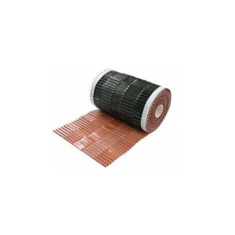 Closoirs de faîtage vario protect alu bwk (rouleau 5m)-5,0 ml x 300 mm-Rouge-brique BWK