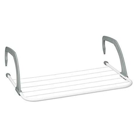 Clothes dryer - Hanging drying rack for radiator and balcony, small size, large drying capacity of 3 m, white