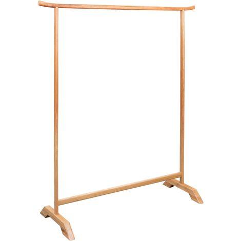 Clothes Rack 125x175 cm Solid Oak Wood