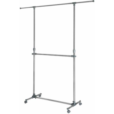 Clothes rack 165x48x200 cm - clothes stand, clothes rail, clothes hanger stand - grey