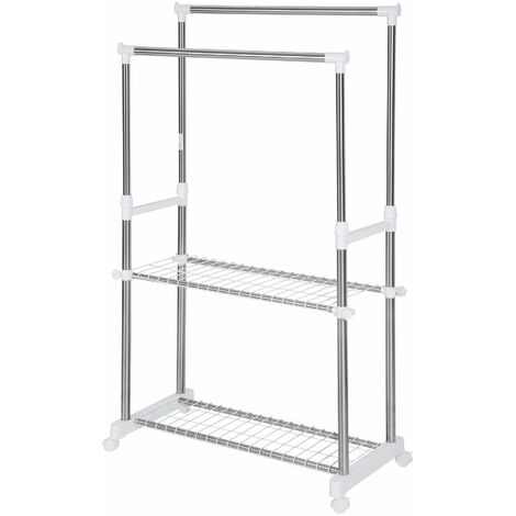 Clothes rack 84x42x170 cm - clothes stand, clothes rail, clothes hanger stand - grey