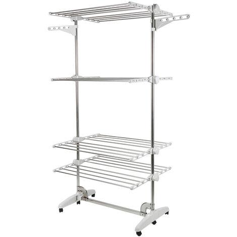 Clothes Rack Floor Standing Folding Adjustable Indoor / Outdoor Airer Drying Rack
