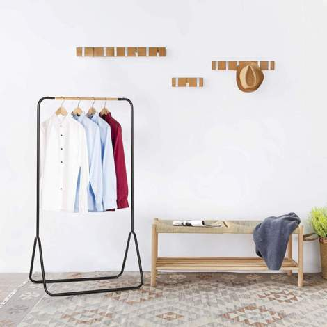 Clothes rack metal 79x43x145cm