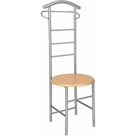 Clothes rack valet stand - clothes rack, coat stand, valet stand - silver