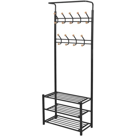 Clothes Rack with Shoe Storage 68x32x182.5 cm Black