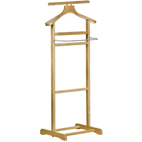 Clothes Valet,Rubberwood,Stainless Steel