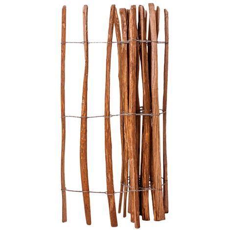 Clôture à piquets Bois de noisetier 120 x 250 cm