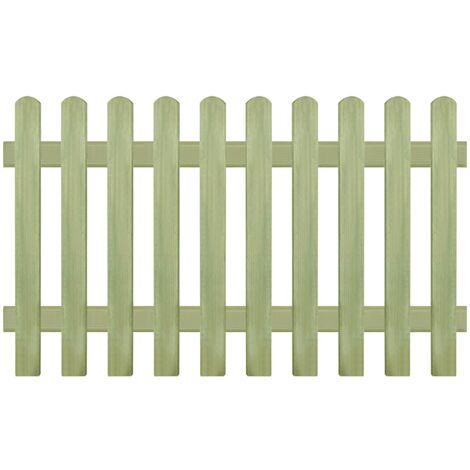 Clôture à piquets Bois de pin imprégné FSC 170 x 100 cm 6/9 cm