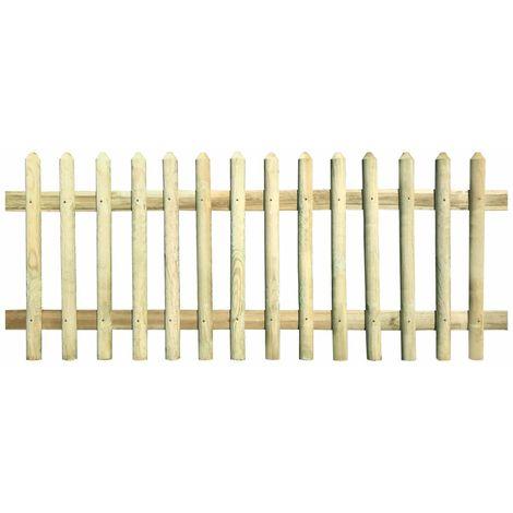 Cloture a piquets Bois de pin impregne FSC 170 x 120 cm 5/7 cm