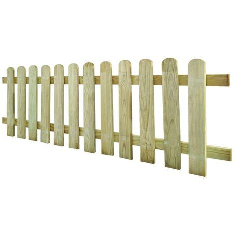Clôture à piquets Bois de pin imprégné FSC 200x60 cm