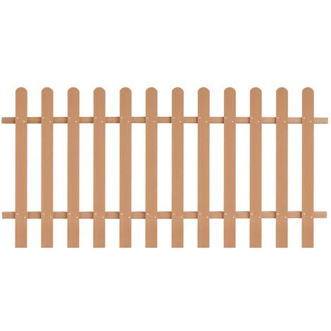 Clôture à piquets WPC 200 x 100 cm