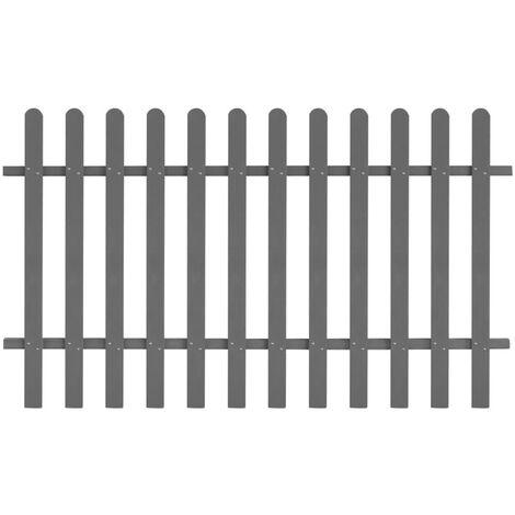 Clôture à piquets WPC 200 x 120 cm