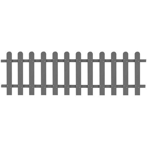 Clôture à piquets WPC 200 x 60 cm