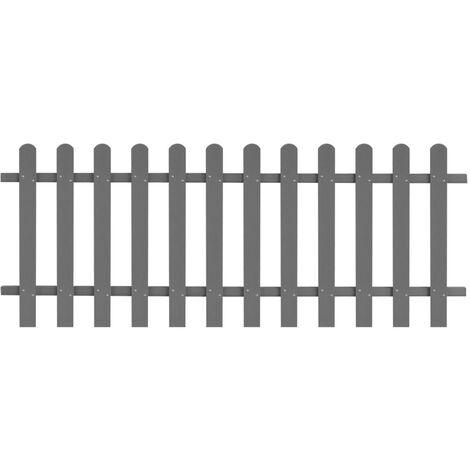Clôture à piquets WPC 200 x 80 cm