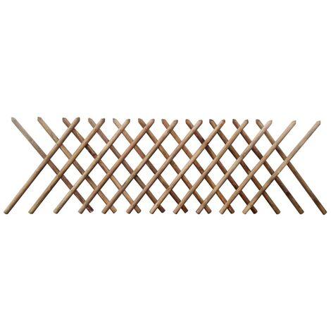 Clôture à treillis Bois imprégné 250 x 100 cm