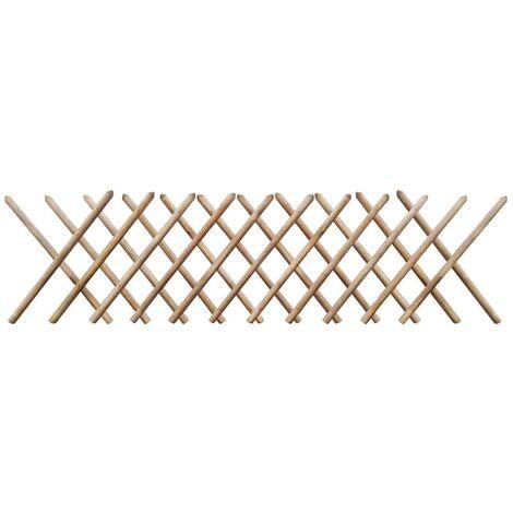 Clôture à treillis Bois imprégné 250 x 80 cm