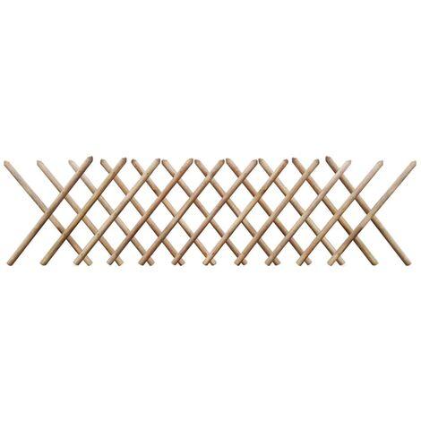 Clôture à treillis extensible 250 x 80 cm Bois imprégné FSC