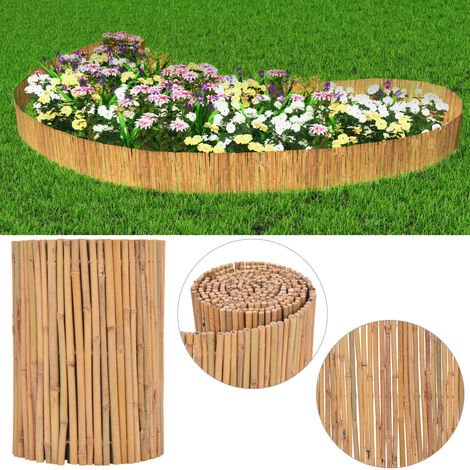 """main image of """"vidaXL Clôture Bambou Brise-vue Brise-vent Panneau de Clôture Bordure de Jardin Allée de Jardin Plates-bande Pelouse Extérieur Multi-taille"""""""