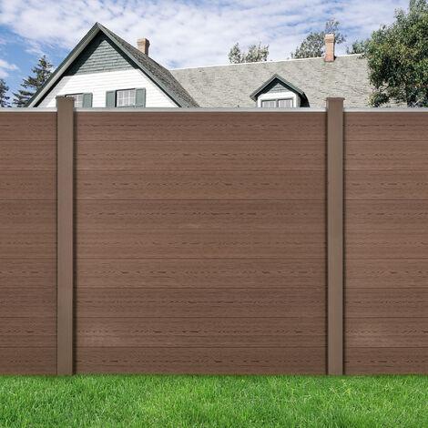 Clôture Brise Vue Brise Vent Bois Composite (WPC) Brun 183 x 879 cm