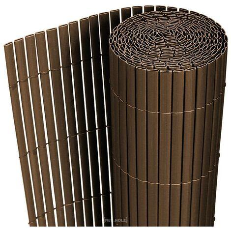 Clôture brise vue brise vent PVC 200 x 300 cm brun