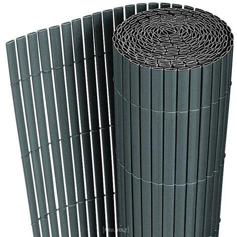 Clôture brise vue brise vent PVC 200 x 300 cm gris - Gris