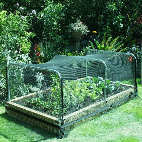 Clôture de cerf de clôture de filet anti-oiseaux lourd à 18 brins, clôture de jardin et protection des cultures - -2x5m / 2x10m / 2x15m 2 * 15M L