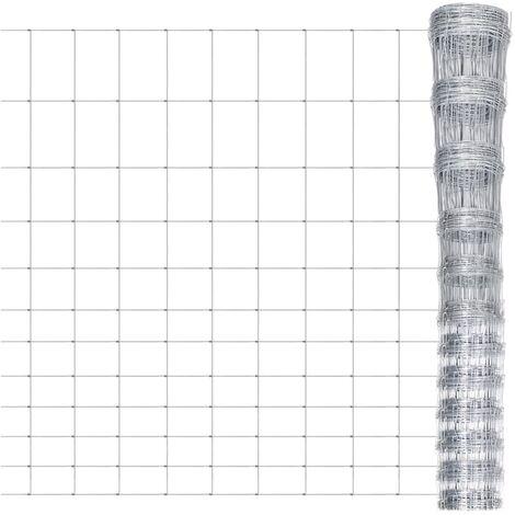 Clôture de jardin Acier galvanisé 50 m 165 cm