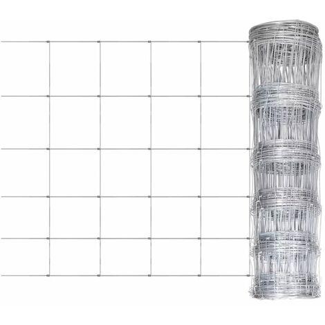 Clôture de jardin Acier galvanisé 50 m 80 cm