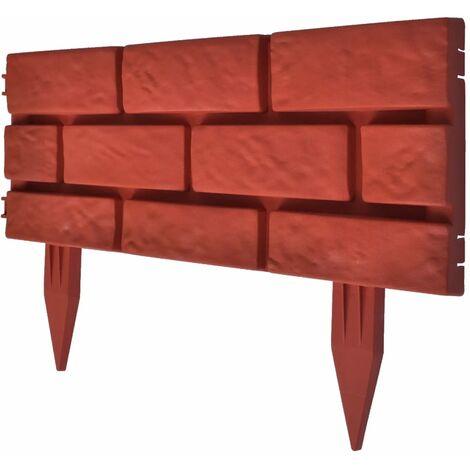 Clôture de jardin avec design de briques 11 pcs