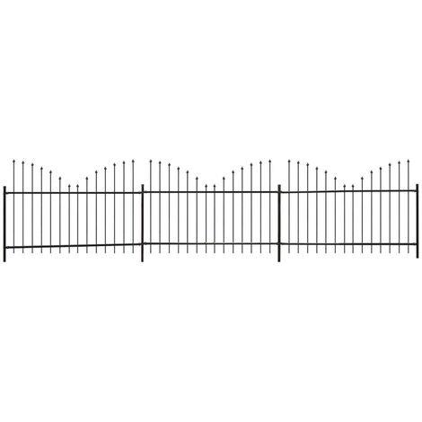 Clôture de jardin Dessus en lance inversé (1,25-1,5)x6m Acier