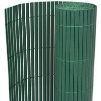 Clôture de jardin Double face PVC 195 x 500 cm Vert