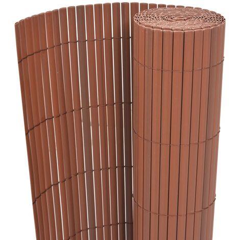 Clôture de jardin Double face PVC 90 x 500 cm Marron